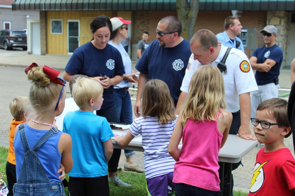 Kids Water fights by Mt. Morris Fire Dept