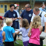 Kids Water fights by Mt. Morris Fire Dept